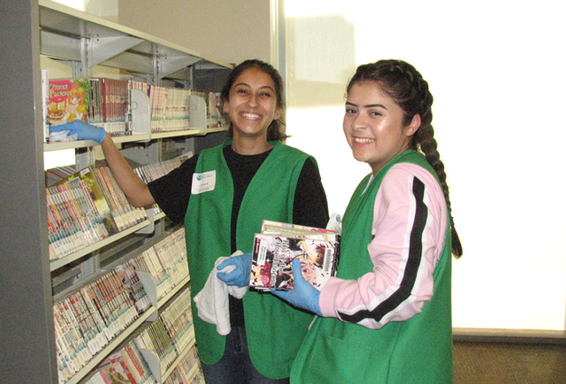 Tween Clean-Up Days at the Library