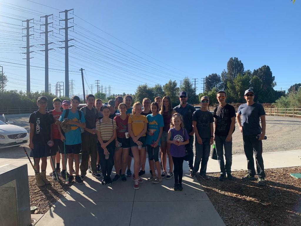 Volunteers Spruced Up Iron Horse Trailhead