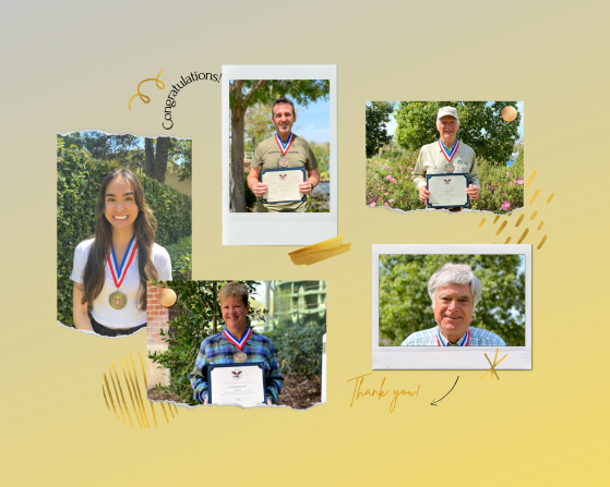 President's Volunteer Service Awardees